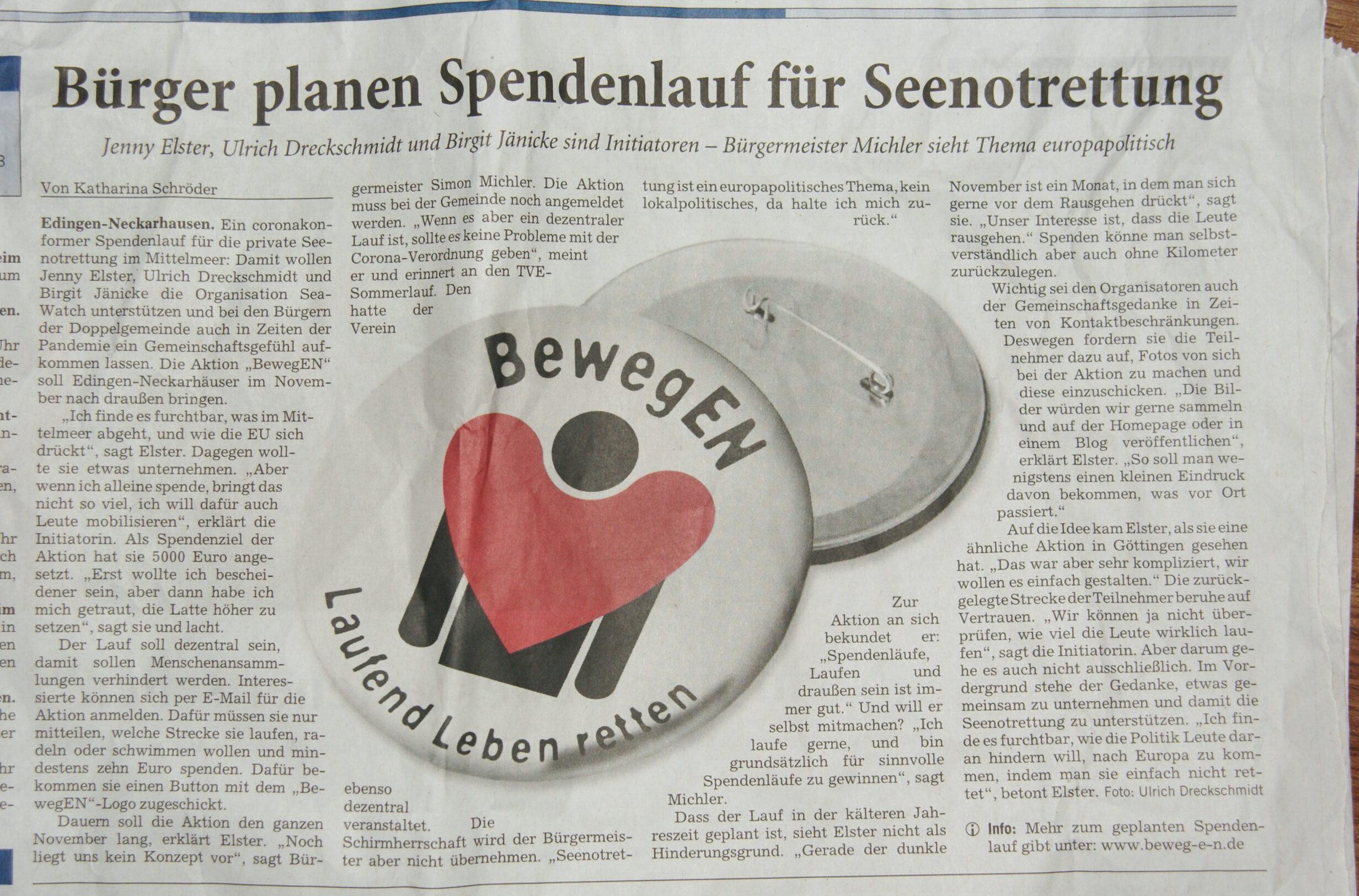 Zeitungsartikel vom 24.10.2020